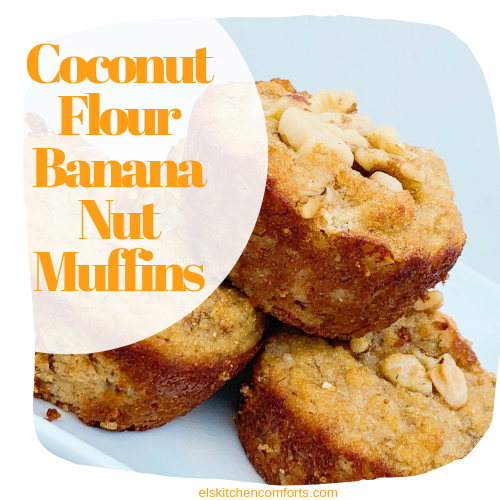Coconut Flout Banana Nut Muffins