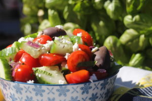 Mediterranean cucumber tomato salad that refreshing and deliciously delightful dish for the Summer.