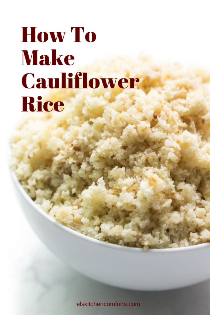 Learn how to make cauliflower rice at home. It's simple to make, and you can serve it with anything you would serve with rice.