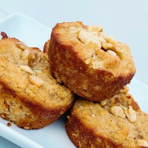 Moist Coconut Flour Banana Nut Muffins are the perfect healthy breakfast or snack for your family.