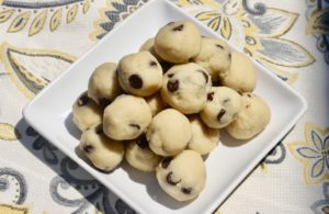 Edible Keto Cookie Dough Bites to be made and enjoyed by the whole family.