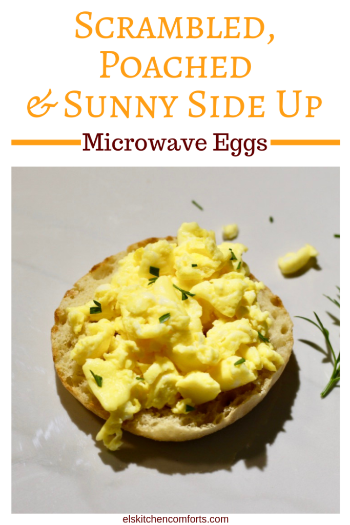 Microwave Eggs Three Ways for a Quick Breakfast. Whether you like your eggs scrambled, sunny side up or poached it's convenient to make it in the microwave.