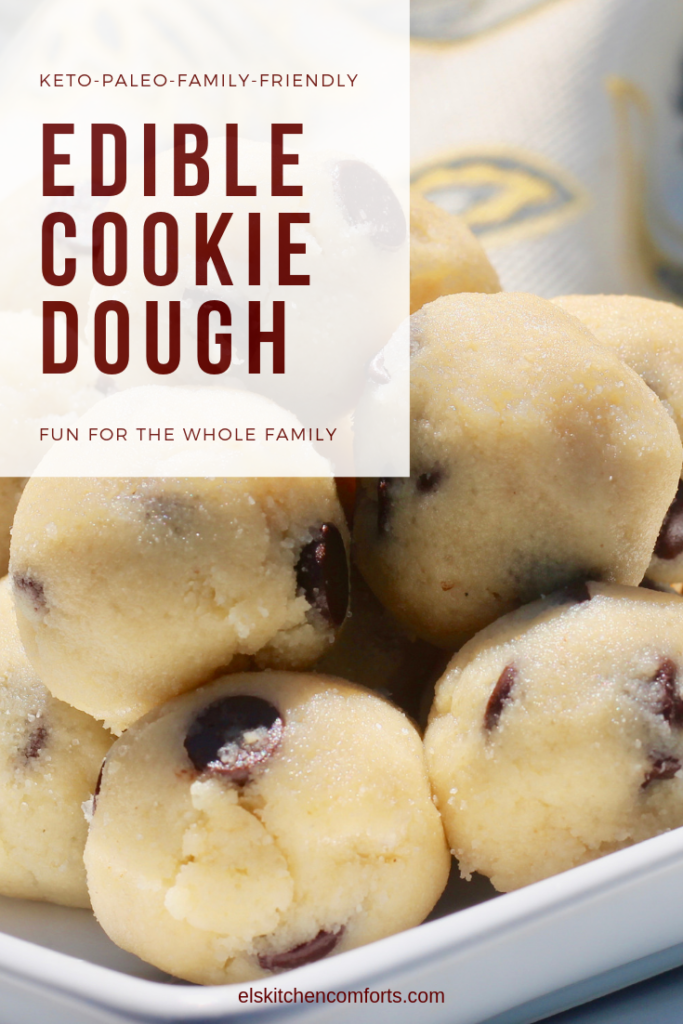 Edible Keto Cookie Dough Bites to be made and enjoyed by the whole family. Cooking together is a great way to strengthen the bonds of your family.