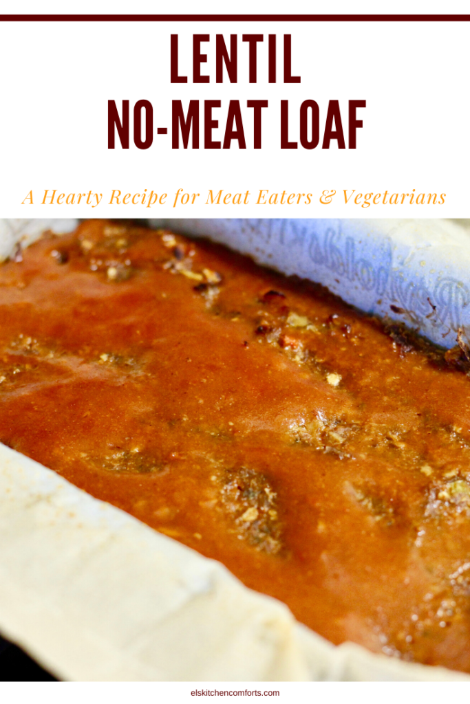 This Lentil No-Meat Loaf is so delicious you won't miss the meat. Inexpensive and packed with fiber and protein it's a nutritional win for the meat lovers & vegetarians in your life.
