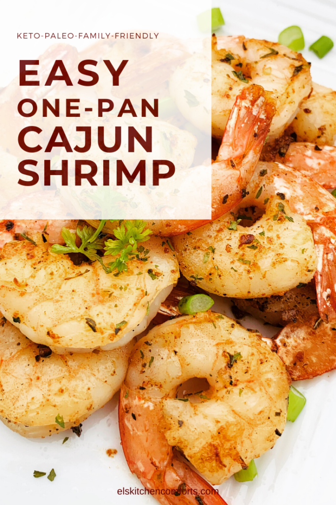 Easy One Pan Cajun Shrimp full of flavor straight from the Bayou and perfect for the entire family.