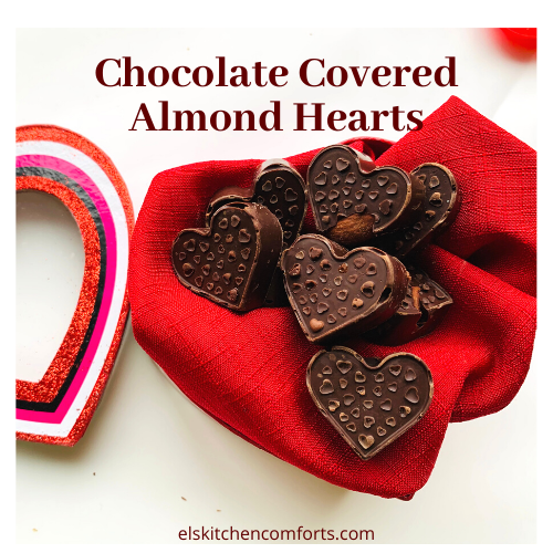 Keto-Friendly Chocolate Covered Almond Hearts