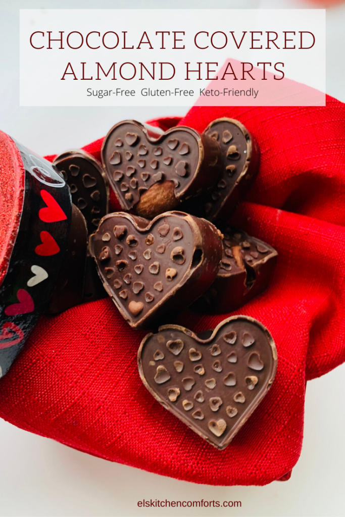 These Keto-Friendly Chocolate Covered Almond Hearts are the perfect Valentine's Day treat to make with your family. It's only two ingredients, so even your littlest little one can join in on the family fun.