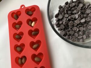 How To Make Chocolate Covered Almond Hearts
