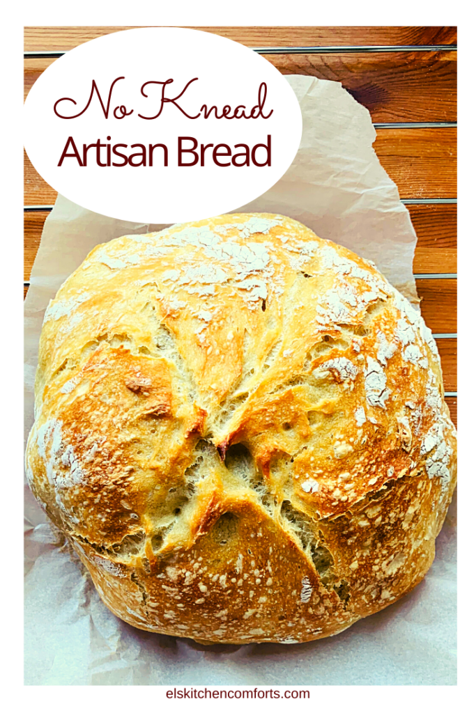 Easy homemade no knead artisan bread recipe that is perfect for busy people with no time to fuss.